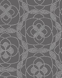 Cosmos Charcoal Dot Wallpaper by