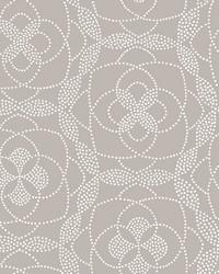 Cosmos Light Grey Dot Wallpaper by