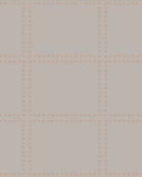 Gridlock Copper Geometric Wallpaper by