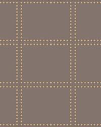Gridlock Brown Geometric Wallpaper by