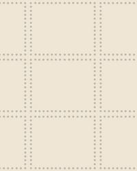 Gridlock Cream Geometric Wallpaper by
