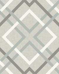 Saltire Taupe Plaid Wallpaper by