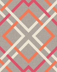Saltire Pink Lattice Wallpaper by