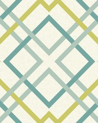 Saltire Green Lattice Wallpaper by