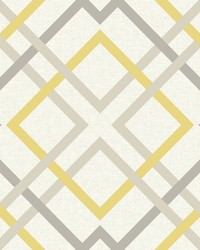 Saltire Yellow Lattice Wallpaper by