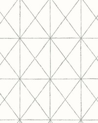 Intersection White Geometric Wallpaper by