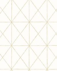 Intersection Gold Geometric Wallpaper by