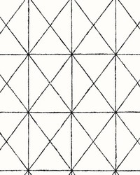 Intersection Black Geometric Wallpaper by