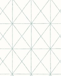 Intersection Turquoise Geometric Wallpaper by