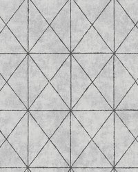 Intersection Silver Geometric Wallpaper by