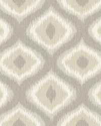 Abra Taupe Ogee Wallpaper by