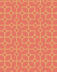 Maze Orange Tile Wallpaper by