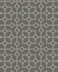 Maze Grey Tile Wallpaper by