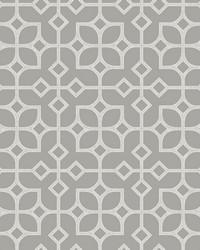 Maze Light Grey Tile Wallpaper by