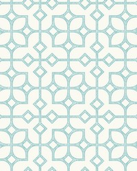 Maze Turquoise Tile Wallpaper by