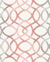 Twister Coral Trellis Wallpaper by