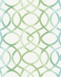 Twister Aquamarine Trellis Wallpaper by