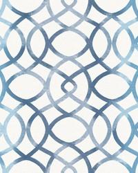Twister Blue Trellis Wallpaper by