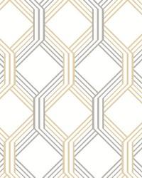 Linkage Gold Trellis Wallpaper by