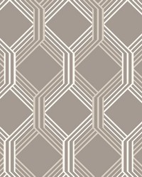 Linkage Brown Trellis Wallpaper by