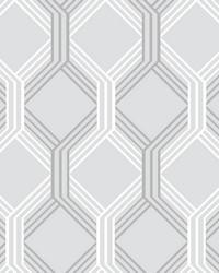 Linkage Grey Trellis Wallpaper by