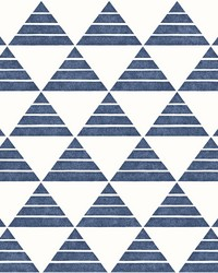 Summit Blue Triangle Wallpaper by