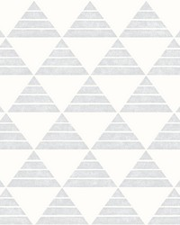 Summit Light Grey Triangle Wallpaper by