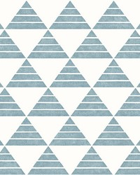 Summit Turquoise Triangle Wallpaper by