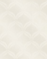 Petals Ivory Ogee Wallpaper by