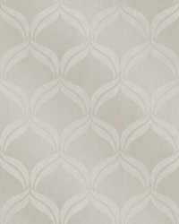 Petals Taupe Ogee Wallpaper by