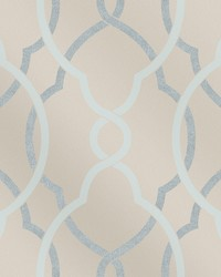 Sausalito Light Blue Lattice Wallpaper by