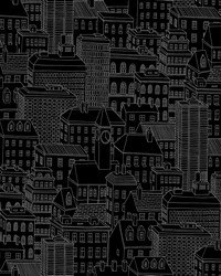 Limelight Black City Wallpaper by