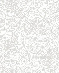 Celestial Taupe Floral Wallpaper by