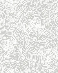 Celestial Grey Floral Wallpaper by