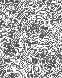 Celestial Black Floral Wallpaper by