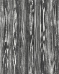 Illusion Black Wood Wallpaper by