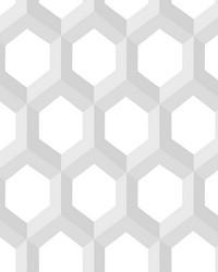 Hex Grey Geometric Wallpaper by