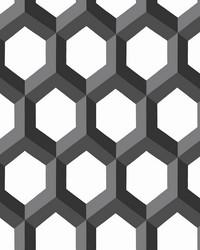 Hex Black Geometric Wallpaper by