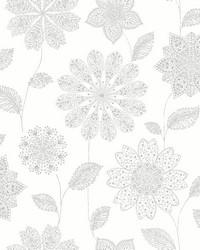 Panache Grey Floral Wallpaper by
