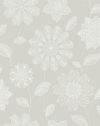 Panache Taupe Floral Wallpaper by