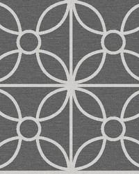 Savvy Black Geometric Wallpaper by