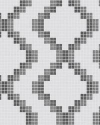 Mosaic Black Grid Wallpaper by