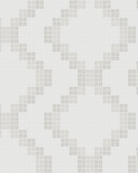 Mosaic Taupe Grid Wallpaper by