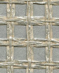 Wanchai Grey Grasscloth Wallpaper by