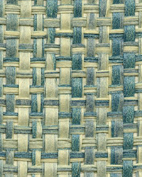 Rizal Teal Raffia Grasscloth Wallpaper by