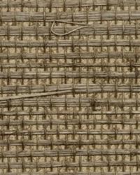 Kansu Brown Sisal Grasscloth Wallpaper by