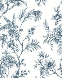 Jessamine Blue Floral Trail Wallpaper by
