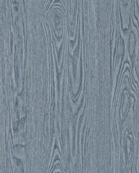 Remi Blue Wood Wallpaper by