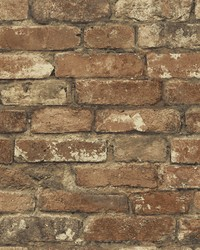 Davis Red Brick Texture Wallpaper by