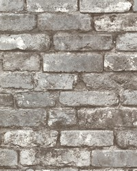 Davis Grey Brick Wallpaper by